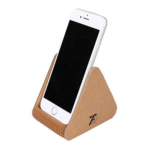 タツフト 紙製スマホスタンド(大, ブラウン) TFi-0102N スマホ・タブレット 各機種対応 寝ながら テレワーク 卓上 シンプル おしゃれ スリム 伸縮 インテリア 便利グッズ
