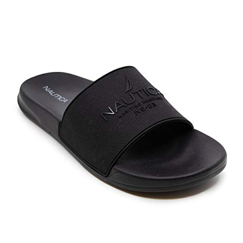 Nautica Men's Athletic Slide Comfort Sandal-Porter-Black-13