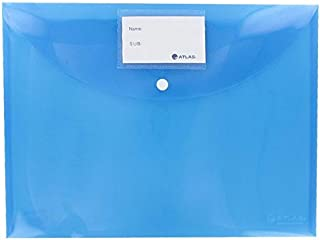Atlas Document Bag with Card and Button, Blue [AS-F10031]