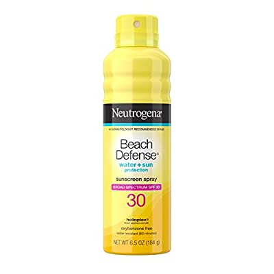 Neutrogena Beach Defense Body Spray Sunscreen with Broad Spectrum SPF 30, Water-Resistant and Oil-Free Sun Protection, 6.5 Ounce (Pack of 1)
