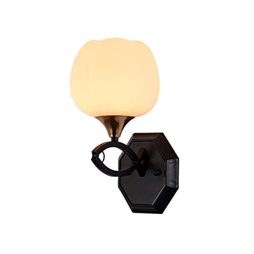 GaLon Wandlamp, verlichting Art Deco binnen, moderne wandlamp van smeedijzer/glazen scherm, lichtbron met E27-schroef, kamerverlichting/veranda, hotel