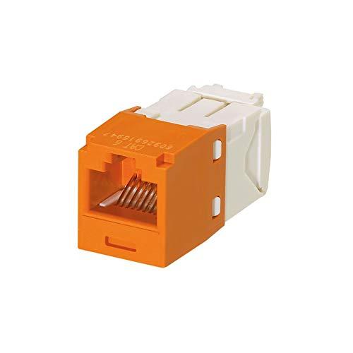 Panduit Mini-Com TX6 Plus Giga-Channel Cat6 Jack, Orange, Pack of 24 CJ688TGOR-24
