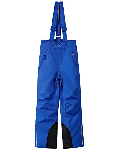 BenBoy Pantaloni Sci Bambini Ragazze Ragazzo Impermeabile Trekking Ski Pantaloni da Neve Arrampicata Escursionismo Invernali Pantaloni,KZ2216-Blue-176