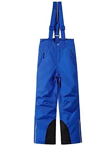 BenBoy Pantalones de Esquí para Niños Montaña Pantalones de Nieve Impermeables Invierno Deportes Niñas Niños Pantalones Trekking Escalada,KZ2216-Blue-152