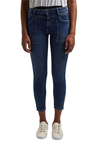 edc by ESPRIT Damen 021CC1B312 Jeans, 901/BLUE Dark WASH, 30/30