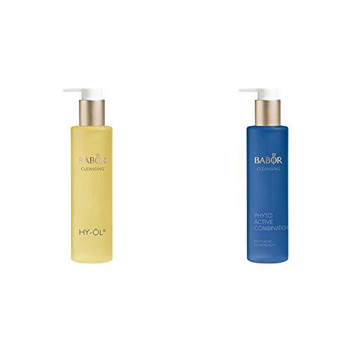 BABOR CLEANSING HY-ÖL hydrophiles Reinigungsöl, für jeden Hauttyp, mild & vegan, 1 x 200 ml & CLEANSING Phytoactive Combination, Reinigung mit Pflanzenextrakten, für Mischhaut und ölige Haut, 1x100ml