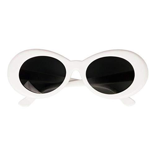 Silberne Sonnenbrille Kurt Cobain Kostüm Nirvana Verkleidung Brille Brille weiß oval Retro Farbtöne