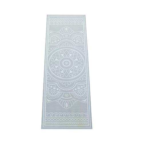 Love Generation Yogamatte mit Druck 6mm extra gepolstert | Strapazierfähiges und leicht zu reinigenes PVC | viele Drucke | 183 x 61 x 6 mm Matte | Für Yoga Pilates und Fitness (hellblau)