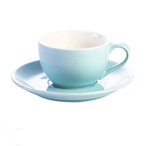 QXYOGO Tazas Cafe 150 ml de cerámica Tazas de café Taza de café Capuchino Simples Flor Copas Latte 5 (Capacity : 150 ml, Color : 10bright)