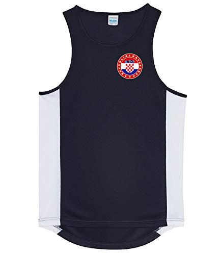 Nation Kroatien Trikot Tank Top Athletic Sport Gym ATH FH-SC (M)
