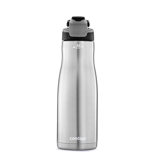 Contigo 2079446 AUTOSEAL - Botella de agua, acero inoxidable, tapa de regaliz