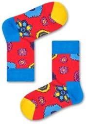 Happy Socks Beatles Kids' Flower Power Sock Medium Red 7-9Y