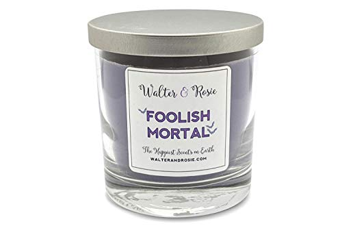 Walter & Rosie Candle Co. - Foolish Mortal 11oz Scented Candle Inspired by Disney Scents - Smell Like Disney Resorts - The Happiest Scents on Earth - Soy Blend - Up to 40 Hrs