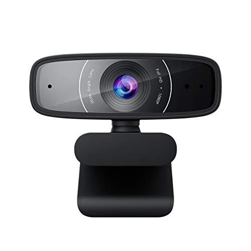 ASUS Webcam C3 Full HD USB-Kamera (1080p-Auflösung, 30 FPS, Beamforming-Mikrofon, 360° Drehmechanismus, kompatibel mit Skype, Teams und Zoom)