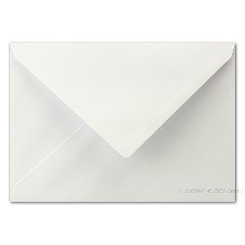 50 Stück - Briefumschläge DIN C5 Weiß - 16,1 x 22,8 cm - mit Nassklebung und spitzer Verschlussklappe, 90 g/m² - Glatte und Matte Oberfläche mit angenehmer Haptik