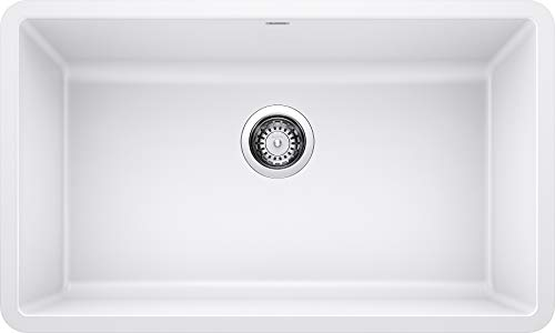 Great Features Of BLANCO 440150 Precis Super Single Bowl-White Sink, 32 L X 19 W for 36 Cabinet