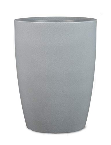 Scheurich Maceta de plástico Gris Piedra Pisa, 45 cm de diámetro, 61 cm de Alto, 72,5 litros de Volumen