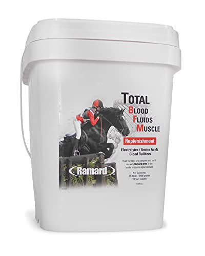 Ramard Total Blood Fluids Muscle Replenishment for Race Horses | Hydration and Blood Wellness Aid | Assists in Repairing Muscle Tissue Damage | Contains Electrolytes, Amino Acids, and Blood Vitamins