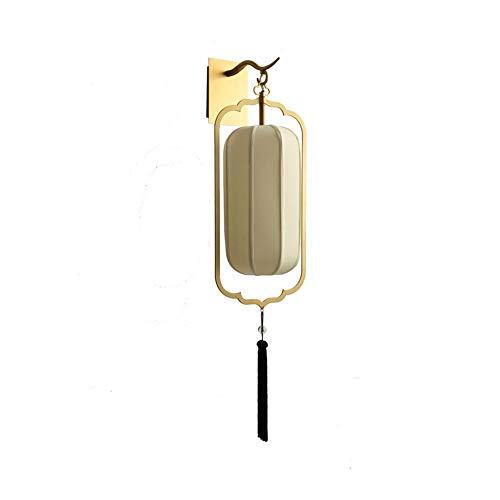 Lampara pared Chino apliques de la pared creativo sencillo paño retro lámpara linterna clásico Forma lámpara de pared elegante conveniente for el dormitorio Estudio de la cabecera de la sala lampara p