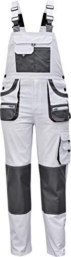 Stenso des-Emerton® - Herren Arbeits-Latzhose - Weiß EU60