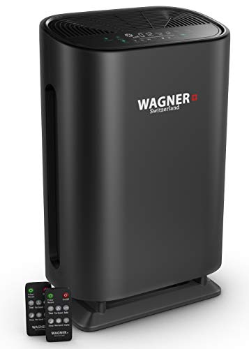 WAGNER Switzerland Air Purifier WA888 Ozone Free, HEPA-13 Medical Grade Filter for Large Rooms. Removes Air Particles, Dust, Odors, Smoke, VOC, Pollen Pet Dander, etc.