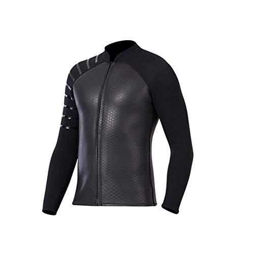 TZTED Tauchen Jacke 3mm Neopren Jacke Herren Damen, Wassersport Neoprenanzug Wetsuit Top Neopren Tauchen Top,Men,XXL