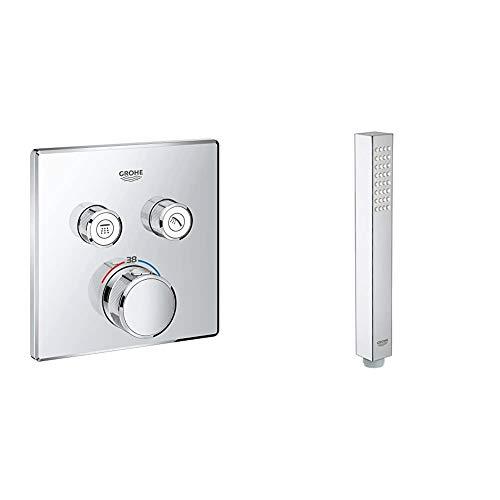 Grohe Grohtherm SmartControl - Termostato cuadrado para ducha y baño con instalación...