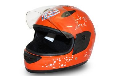 Nitro Motors Helm Kinderhelm Integralhelm Motorradhelm Full Face Helmet Orange (L)