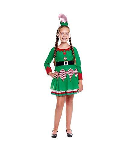 H HANSEL HOME Disfraz Elfa Infantil - Niña Vestido para Cosplay/Navidad Size 7-9 años
