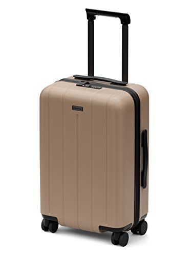 CHESTER Minima Carry-On Luggage / 22'x19'x14' Lightweight Polycarbonate Hardshell/Spinner Suitcase/TSA Approved Cabin Size (Desert (Sand), Carry-On Luggage)