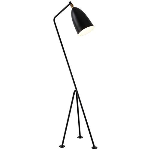 ZXC staande lamp voor slaapkamer studeerkamer woonkamer, creatieve driehoekige klem, staande lamp, woonkamer, slaapkamer, werkkamer, salontafel, staande lamp, zwart