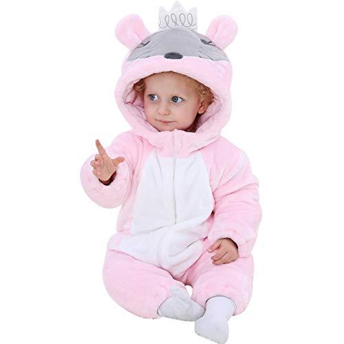 GKQVG Unisex Winter Hooded Jumpsuit Für 2-36 Monate Baby Jumpsuits, Baby Jumpsuits Christams Babykleidung Nette Tierkleidung