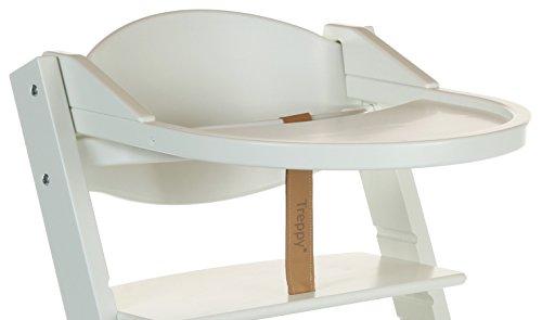 Treppy 1014 ein zusätzlicher Schreibtisch zum Kinderstuhl Playtray, weiß
