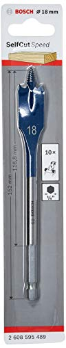 Bosch Professional Flachfräsbohrer Self Cut Speed mit 1/4