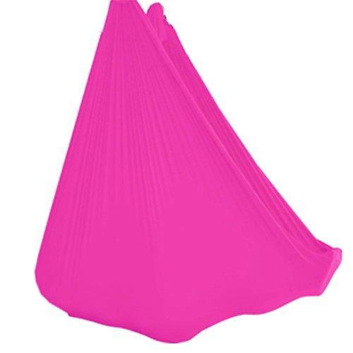 WELLSEM Deluxe L: 5.5 yardas de ancho: 3 yardas yoga vuelo columpio aéreo yoga hamaca tela de seda para yoga anti-gravedad pilates (rosa)