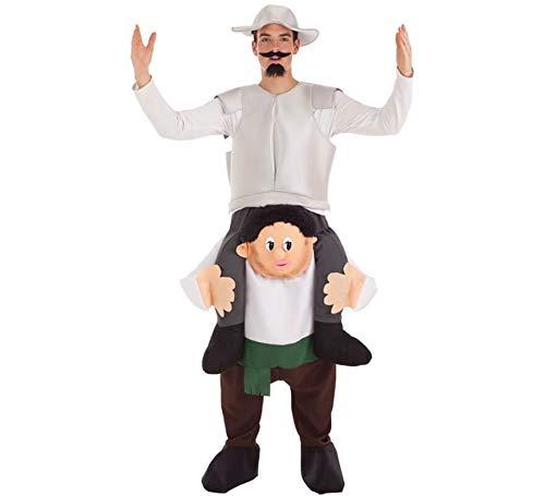 Creaciones Llopis Disfraz de Don Quijote a Hombros de Sancho para Hombre