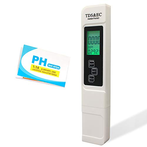 TDS Meter, Water Quality Meter, Digital TDS Meter, Water EC and Temp Meter, Turbidity Meter, Drinking Water Meter, PH Test Strips, for Aquariums and More. Professional, Accurate and Reliable.