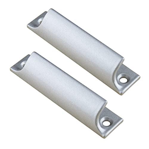 2 Tiradores De Gabinete Aleación De Aluminio Asas Para Cajones Armario Manillas De Puerta de balcón Perilla De La Manija de puerta corredera pequeña Mango de ventana de pantalla (Silver)