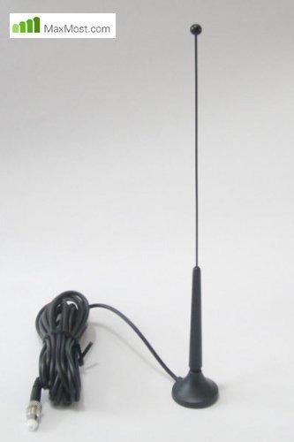 Maxmostcom Antena magnética externa con adaptador pasivo universal para Apple iPhone 4,...