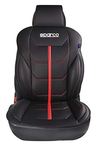 Sparco 1 Respaldo Universal de Asiento para Coche Modelo, Negro/Rojo (Ferrara)