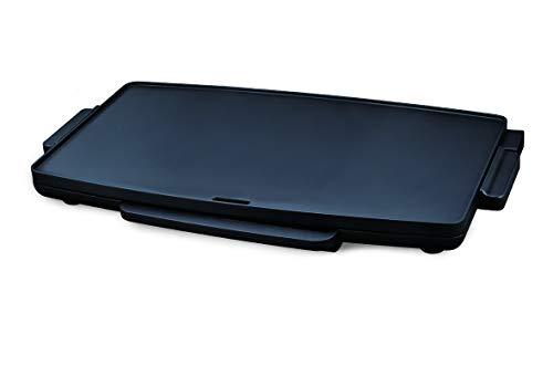 Elco PDG-2400P, Plancha de asar eléctrica 2400W, extra grande XXL, antiadherente, 59.5 x 34.5cm de superficie, termostato regulable de temperatura, asas de toque frío, color negro.