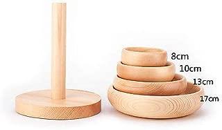 FidgetFidget 4 Size Domed Wooden Hat Fascinator Base Millinery Block with Stand B051 17CM