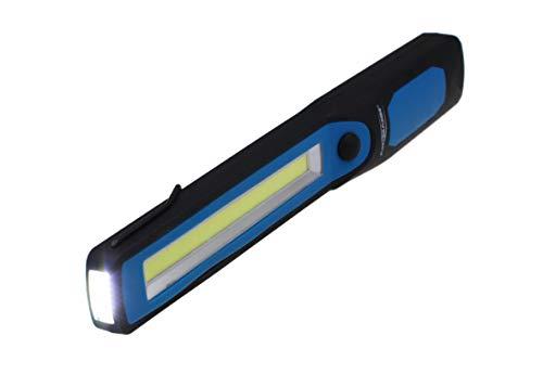Ansmann LED Werkstattlampe mit 215 Lumen - Arbeitsleuchte kabellos, flexibel & magnetisch - 3W Funktionslampe - Arbeitslampe für Werkstatt, Auto & Notbeleuchtung WL250B Schwarz