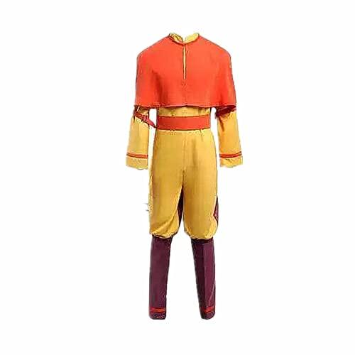 MLYWD Avatar: The Last Airbender Avatar Aang Disfraz de Cosplay Trajes de uniforme para mujeres Hombres Conjunto completo Carnaval de Halloween de alta calidad