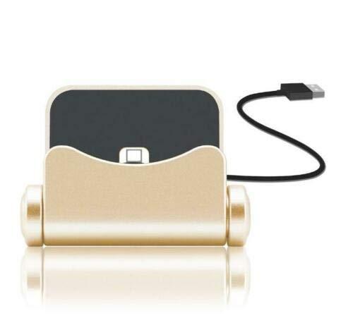 N4U Online® Premium-Ladestation für Asus ZenFone Go 5.0 (LTE), goldfarben