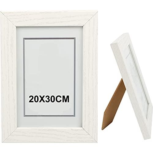 Marco de Fotos 20 x 30 cm Blanco Hecho de Madera Panel...