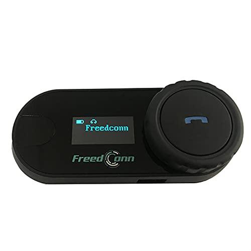 XWSQ Original Actualizado TCOM-SC BT Bluetooth para Todos los Auriculares para interfaculares del intercomunicador de Casco de Motocicleta con Pantalla LCD + Radio FM