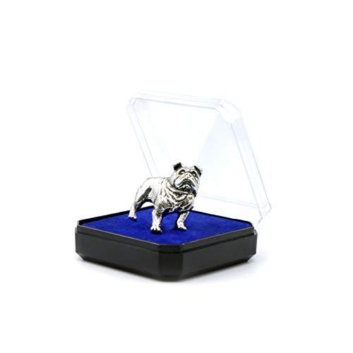 Englische Bulldogge Die Stecknadel aus Zinn am Revers Die Brosche, das Abzeichen das Accessoires für die Liebhaber der Tiere Jagd und Angeln Geschenk für...