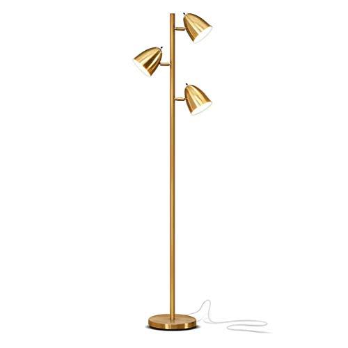 XKALXY 3 Kopf Alten Messing-Stehleuchte, Nordic Moderne Mode Innenhauptbeleuchtung Stehlampe