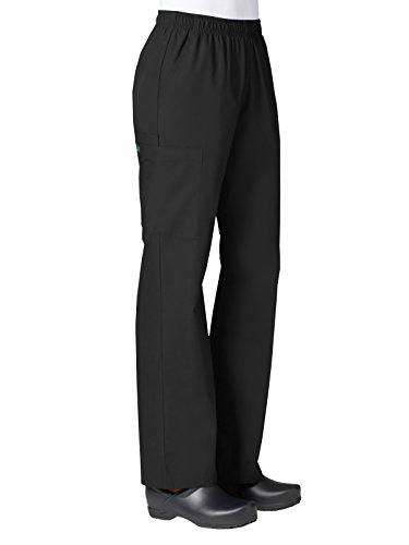 Maevn Women's Core Full Elastic Band Cargo Pants(Black, Small Petite)